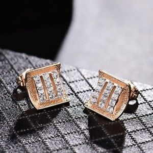 Jewelry - 18kt Gold Filled Diamond Earrings